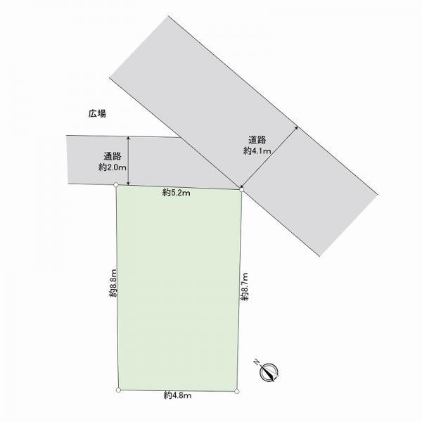 土地 江東区亀戸3丁目40-7 JR中央・総武線亀戸駅 2680万円