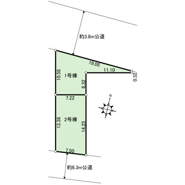 新築戸建 江戸川区大杉5丁目 JR総武本線新小岩駅 4190万円