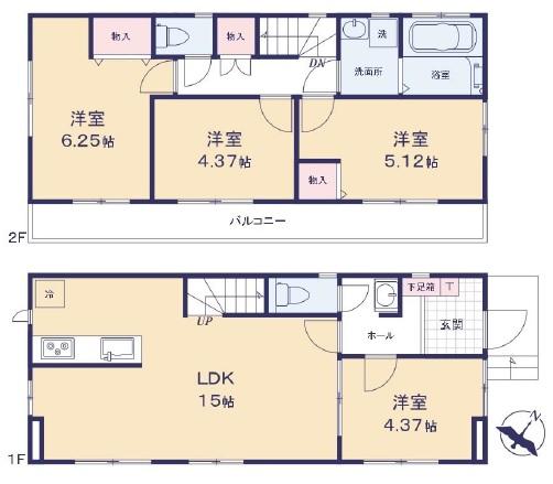 新築戸建 葛飾区細田5丁目 京成本線京成小岩駅 4790万円