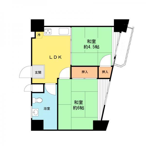 中古マンション 墨田区東向島1丁目 東武亀戸線曳舟駅 1049万円