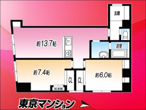 中古マンション 東京都渋谷区笹塚2丁目4−1 京王線笹塚駅駅 3680万円