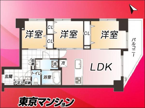 中古マンション 台東区浅草2丁目16-7 つくばエクスプレス浅草駅駅 4980万円