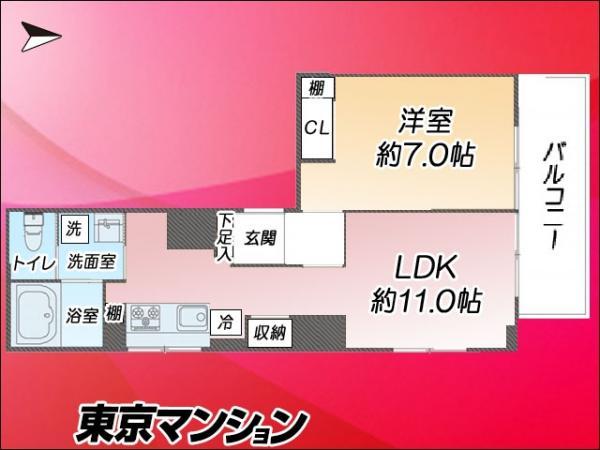 中古マンション 大田区西蒲田7丁目7−7 東急池上線蒲田駅  2980万円