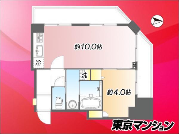 中古マンション 品川区東五反田4丁目10−9 JR山手線五反田駅 2590万円