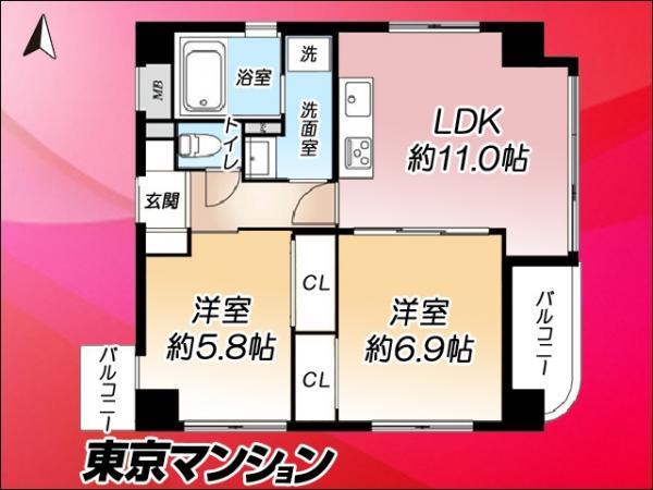 中古マンション 台東区浅草6丁目1-17 銀座線浅草駅駅 4180万円