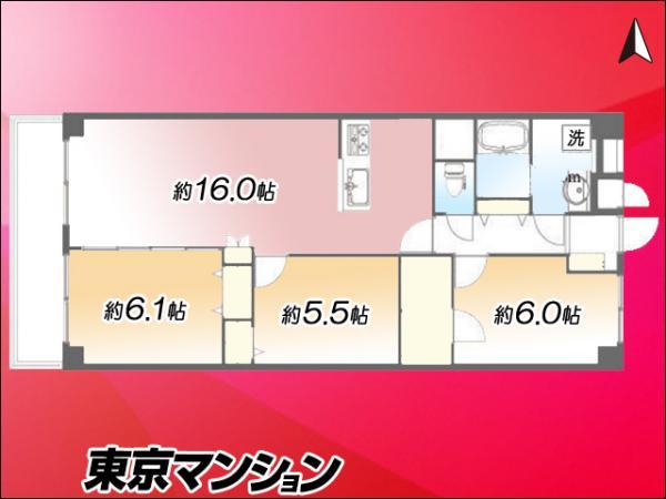 中古マンション 江東区大島8丁目39−22 都営新宿線東大島駅 3990万円
