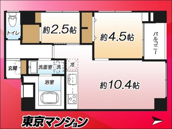 中古マンション 墨田区立花3丁目10-5 東武亀戸線東あずま駅 1790万円