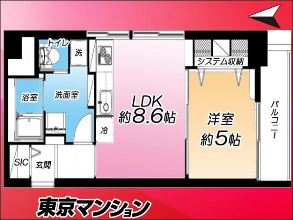 中古マンション 台東区西浅草2丁目14−6 つくばエクスプレス浅草駅 2399万円