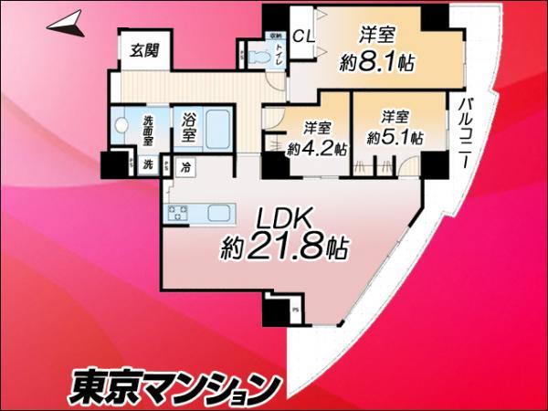 中古マンション 江東区豊洲1丁目3-18 有楽町線豊洲駅駅 6680万円