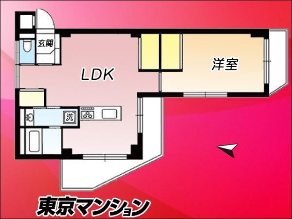 中古マンション 中野区沼袋2丁目20-10 JR中央線中野駅 1899万円