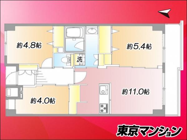 中古マンション 板橋区泉町3-8 都営三田線本蓮沼駅 3199万円