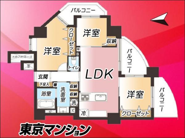 中古マンション 豊島区東池袋2丁目2-7-1 JR山手線大塚駅 5680万円