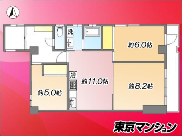 中古マンション 荒川区西尾久7丁目13-8 JR高崎線尾久駅 2499万円