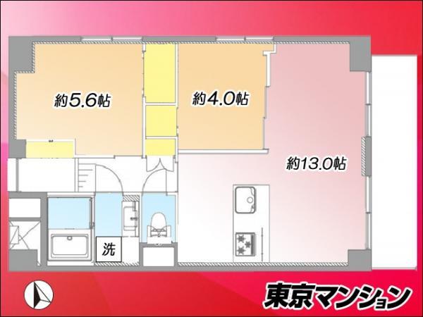中古マンション 大田区蒲田1丁目6-18 JR京浜東北線蒲田駅  4199万円