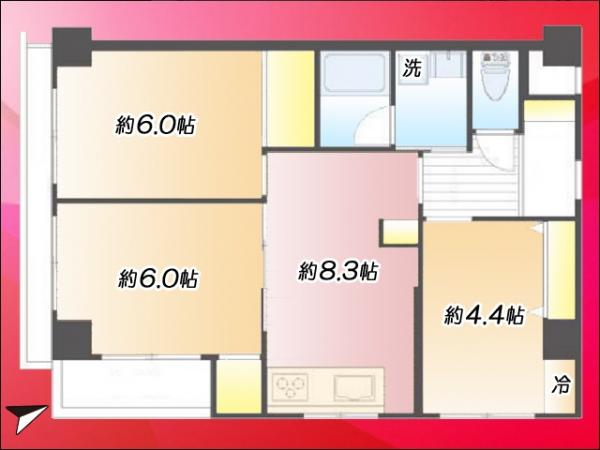 中古マンション 江東区木場2丁目7-3 東西線木場駅 3780万円