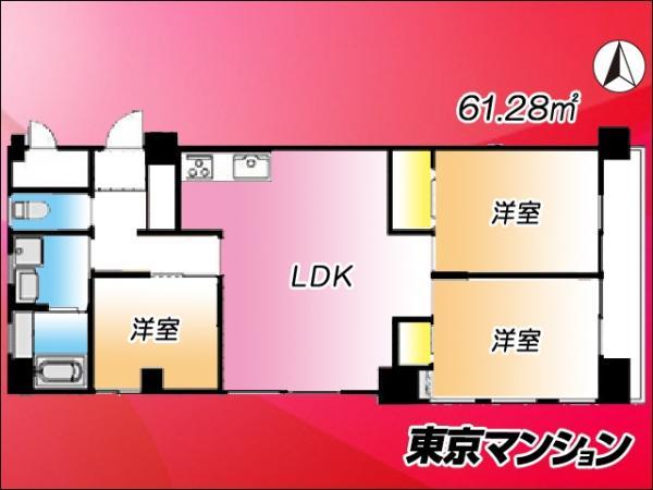 中古マンション 江東区亀戸1丁目27-9 JR中央・総武線亀戸駅 2880万円