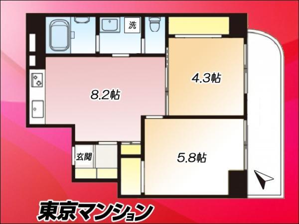 中古マンション 目黒区下目黒4丁目1-16 JR山手線目黒駅 3290万円
