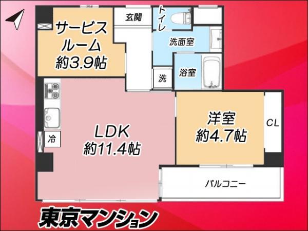 中古マンション 江東区亀戸2丁目8-11 JR中央・総武線亀戸駅駅 3390万円