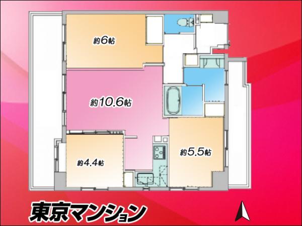 中古マンション 台東区上野1丁目5-4 千代田線湯島駅  5680万円