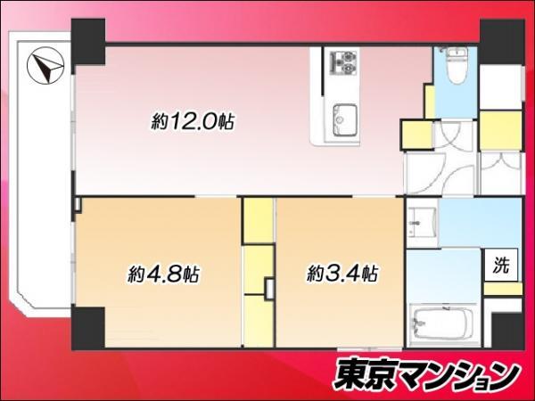 中古マンション 台東区根岸5丁目16-7 日比谷線三ノ輪駅 3890万円