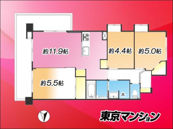 中古マンション 練馬区高松3丁目9-24 西武池袋線富士見台駅 3290万円