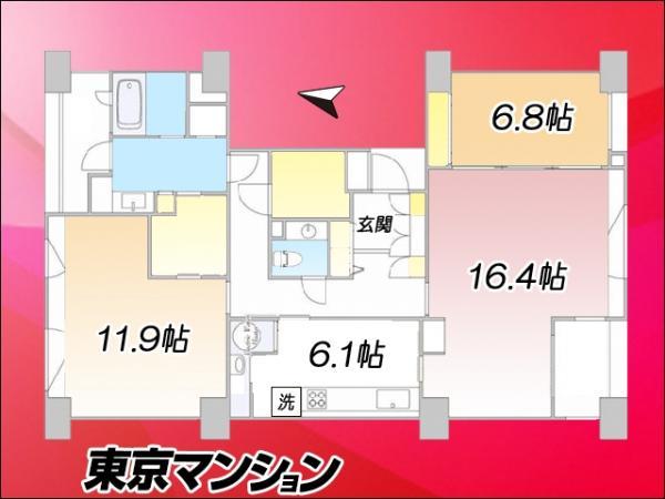 中古マンション 北区赤羽北1丁目20-10 JR埼京線北赤羽駅 5280万円