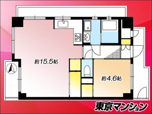 中古マンション 板橋区舟渡3丁目23-3 JR埼京線浮間舟渡駅 2130万円