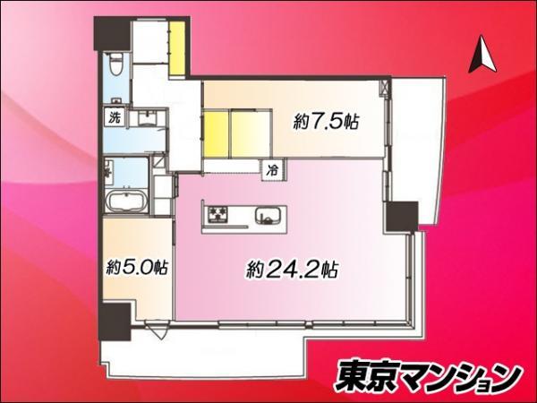 中古マンション 中央区晴海2丁目2-42 有楽町線月島駅 1億1900万円