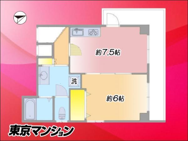 中古マンション 杉並区上荻4丁目21-14 JR中央線西荻窪駅 2280万円