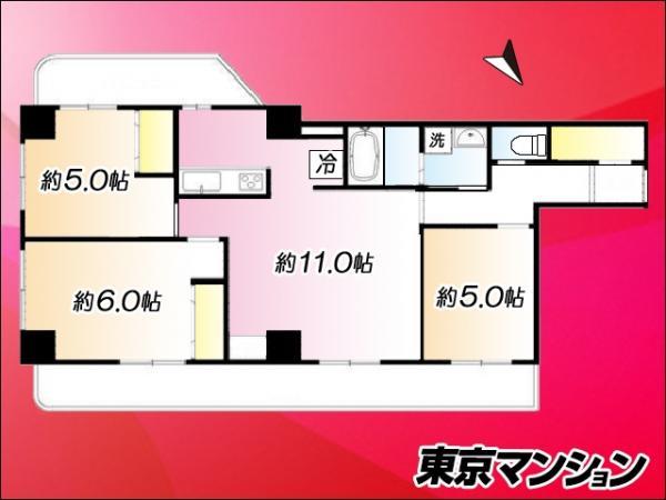 中古マンション 豊島区西巣鴨1丁目6-5 JR山手線大塚駅 2150万円