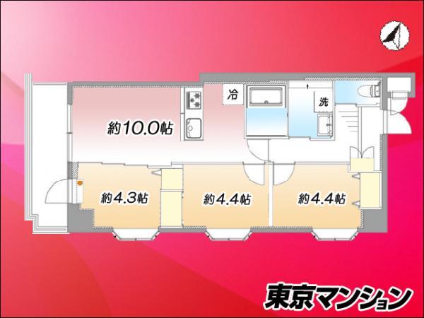中古マンション 荒川区西日暮里1丁目42-2 JR山手線日暮里駅 3999万円
