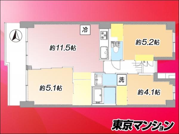 中古マンション 荒川区西尾久8丁目12-9 JR高崎線尾久駅 3399万円