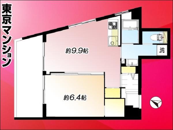 中古マンション 渋谷区幡ヶ谷2丁目20-9 京王線幡ヶ谷駅 2599万円