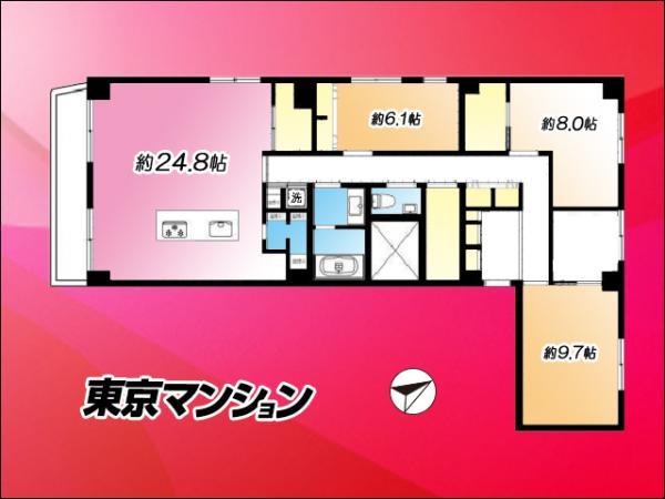 中古マンション 文京区目白台2丁目9-3 JR山手線目白駅 8480万円