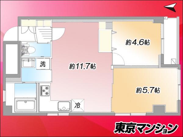 中古マンション 大田区西蒲田7丁目43-7 JR京浜東北線蒲田駅  2799万円