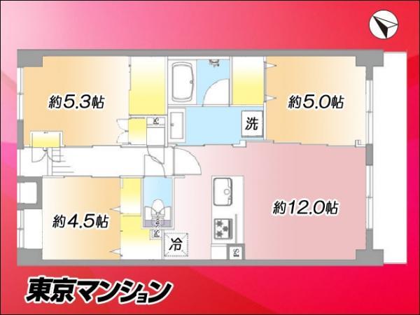 中古マンション 板橋区徳丸6丁目12-5 東武東上線東武練馬駅 2799万円