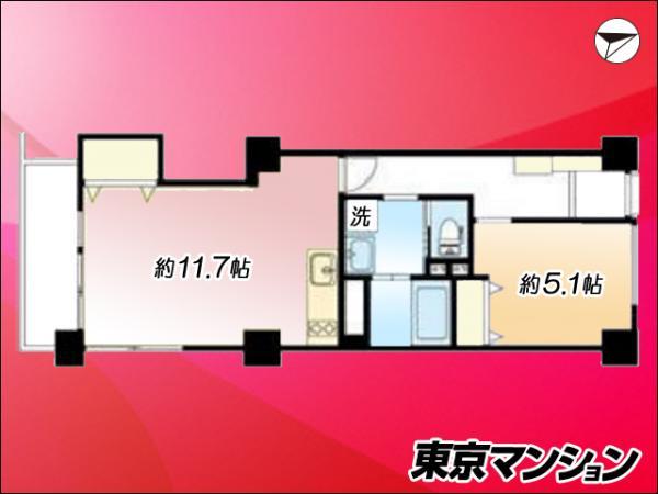 中古マンション 新宿区四谷坂町 都営新宿線曙橋駅 2780万円
