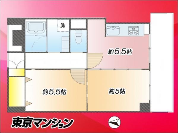 中古マンション 新宿区早稲田鶴巻町561 東西線早稲田駅  2580万円