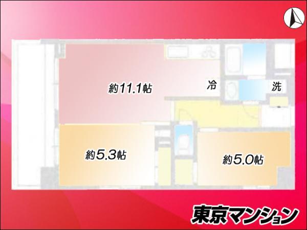 中古マンション 台東区根岸3丁目10-5 JR山手線鶯谷駅 3980万円