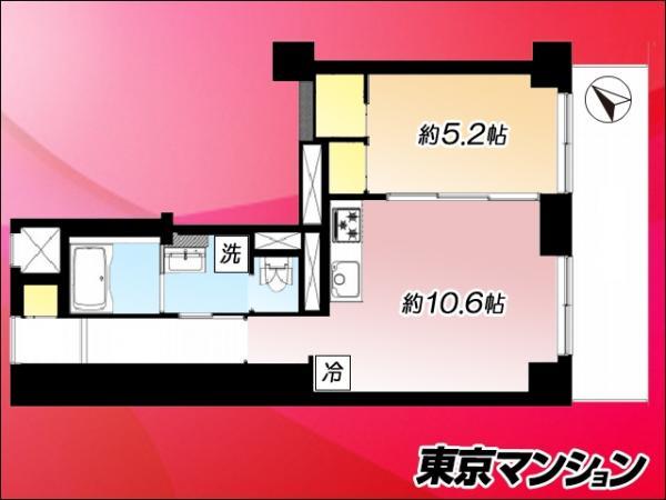 中古マンション 新宿区市谷八幡町16 JR中央・総武線市ケ谷駅 2599万円