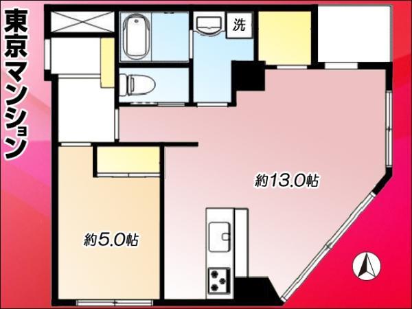 中古マンション 大田区西蒲田7丁目9-8 東急多摩川線蒲田駅 2680万円