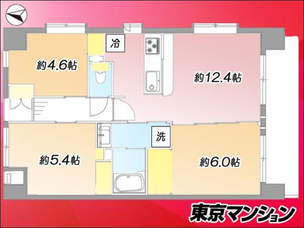 中古マンション 大田区東矢口3丁目17―6 東急池上線蓮沼駅  4599万円