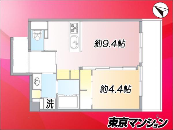 中古マンション 品川区西五反田2丁目31-5 JR山手線五反田駅 2199万円