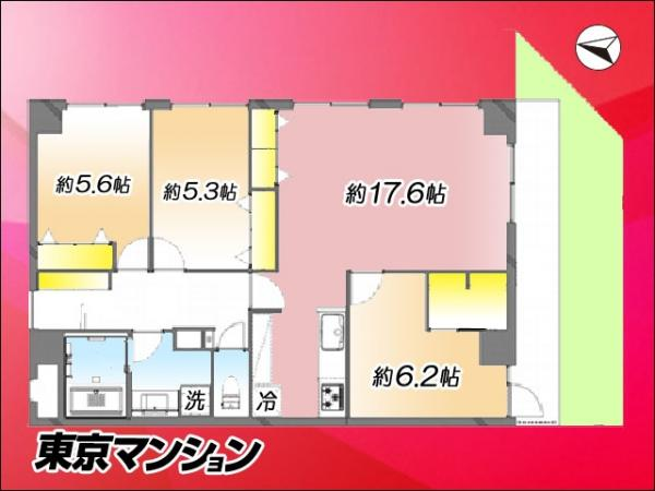 中古マンション 江東区北砂2丁目15-39 都営新宿線西大島駅  3890万円