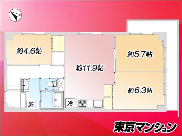 中古マンション 江東区亀戸3丁目38-16 京成押上線押上駅 2890万円