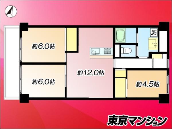 中古マンション 江東区亀戸3丁目38-16 京成押上線押上駅  2980万円