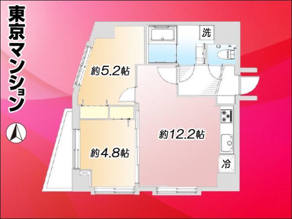中古マンション 足立区千住4丁目9-7 JR常磐線(上野〜取手)北千住駅 2780万円