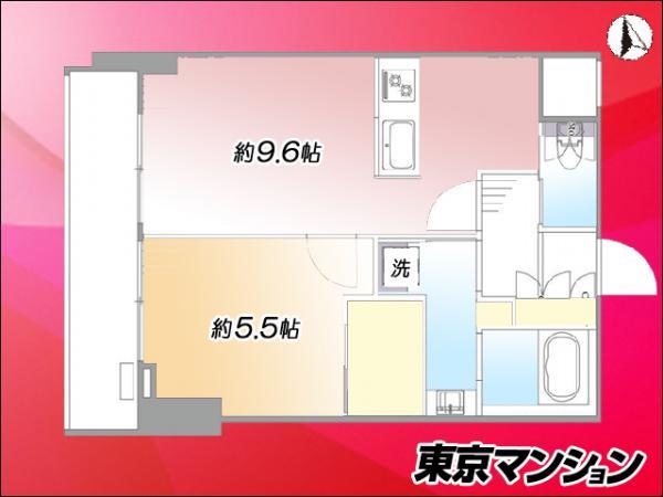 中古マンション 台東区根岸4丁目13-19 日比谷線入谷駅 2099万円