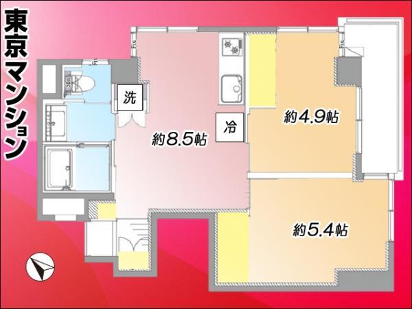 中古マンション 墨田区堤通1丁目5-9 東武亀戸線曳舟駅 2199万円