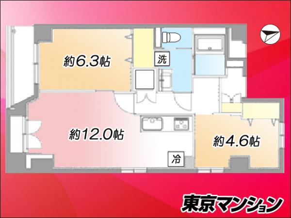 中古マンション 台東区浅草6丁目 都営浅草線浅草駅 3499万円